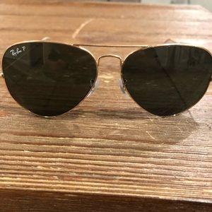 Gold RayBan Sunglasses